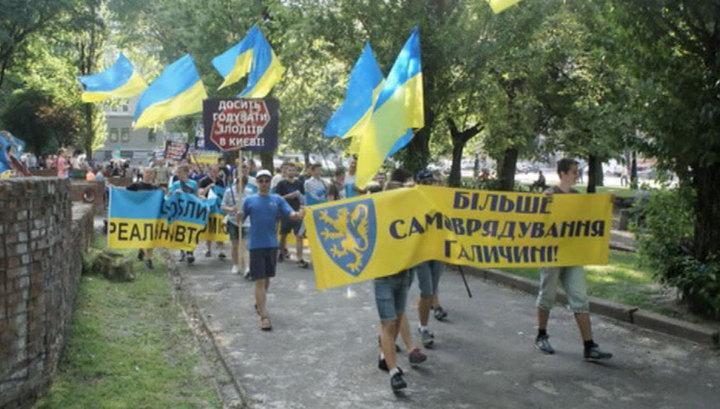 Демонстрация во Львове: запад Украины - новая проблема Киева