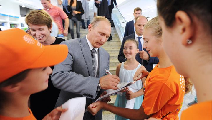 """Президент настроил юные таланты """"Сириуса"""" на победу"""