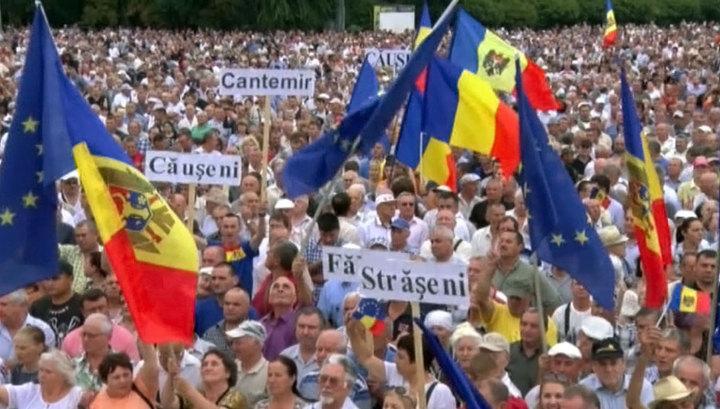 Митингующие в Кишинёве начали устанавливать палаточные городки