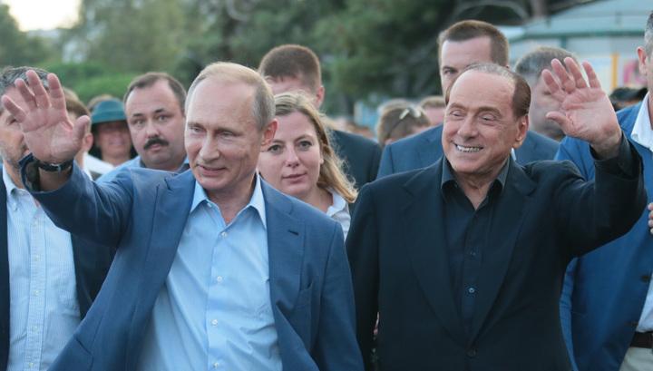 Путин и Берлускони оценили вина Массандры