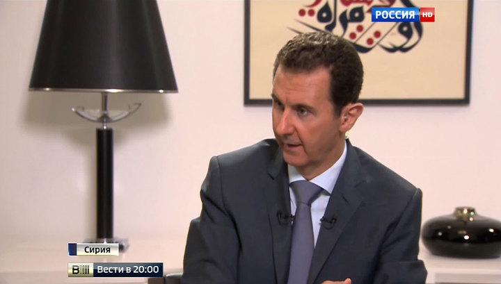 Асад: сирийцы бегут не от армии, а от ИГ