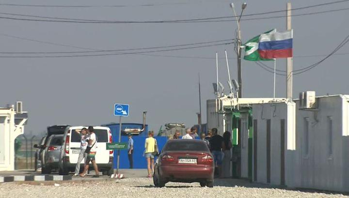 Первая ночь блокады Крыма: через границу не прошел ни один грузовик