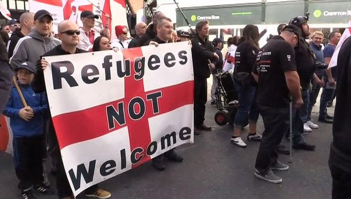 Ультраправые прошлись по Лондону антиисламским маршем