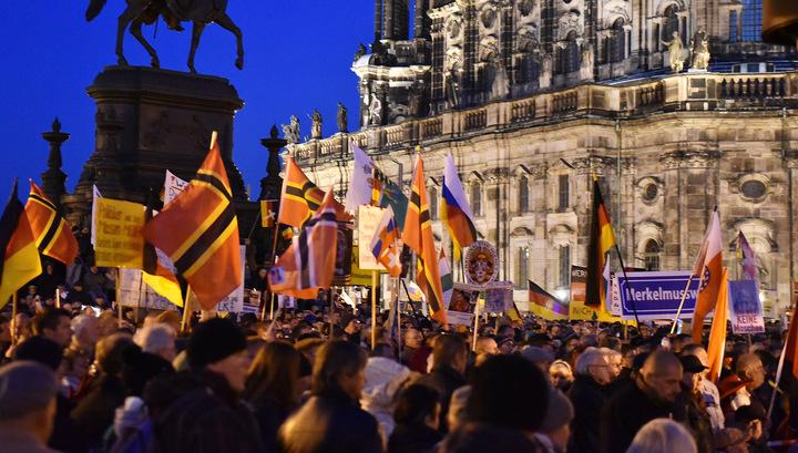 Немцы митингуют против миграционной политики Евросоюза