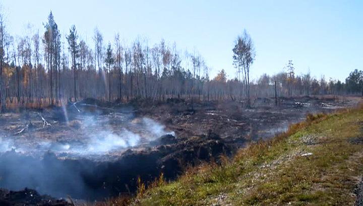 В Бурятии локализовали все торфяные пожары Кабанского района