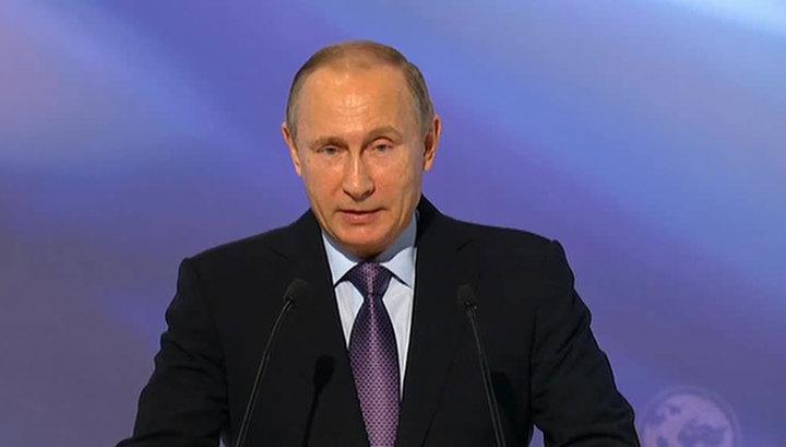 Путин: поддержка соотечественников из-за рубежа помогла в присоединении Крыма