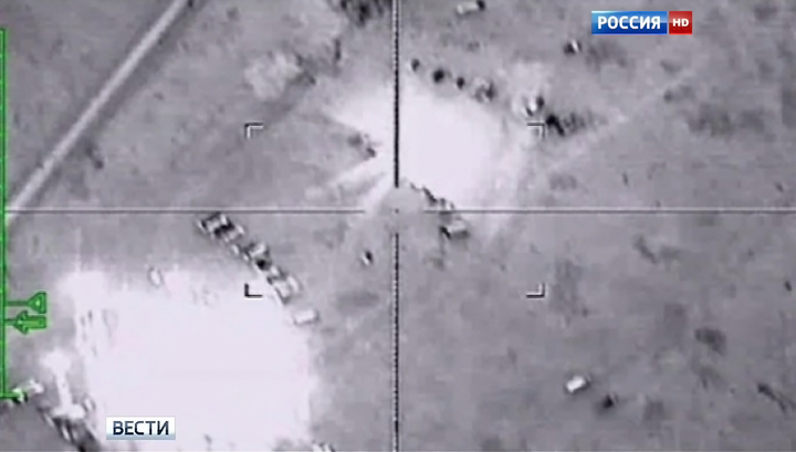 Авиация России нанесла третий массированный удар по объектам террористов в Сирии