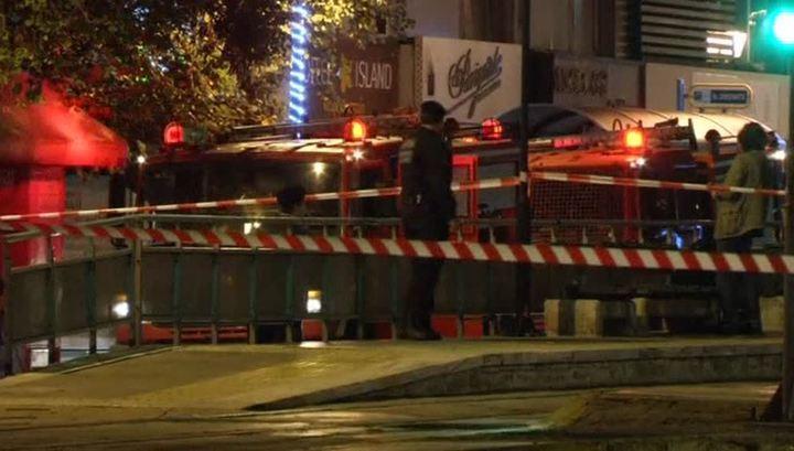 Возле бизнес-центра в Афинах взорвалась бомба, спрятанная в рюкзаке
