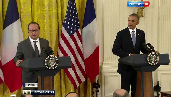 Олланд и Обама призвали не допустить эскалации конфликта между Россией и Турцией