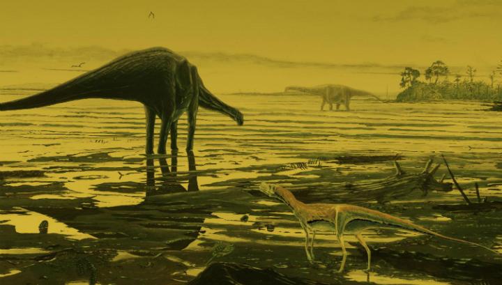 Динозавры на острове Скай в представлении художника