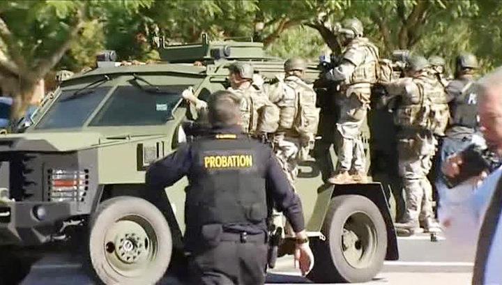 Саперы обследуют место нападения в американском Сан-Бернарино