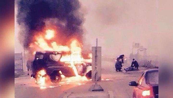 Убийство полицейских в Петербурге: похищены деньги, УАЗ сожжен