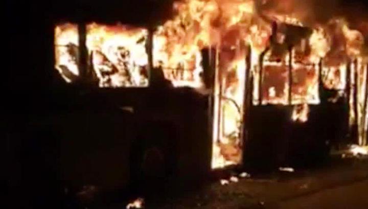 В Китае 14 человек погибли в загоревшемся автобусе