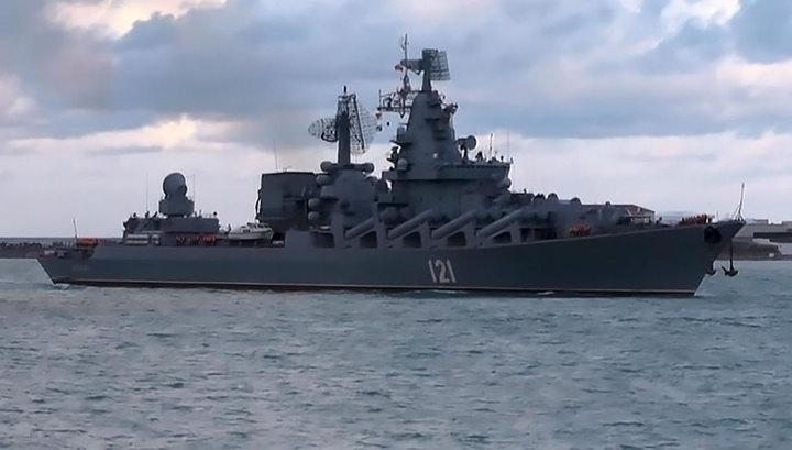 """Крейсер """"Москва"""" вернулся из Сирии в Севастополь"""