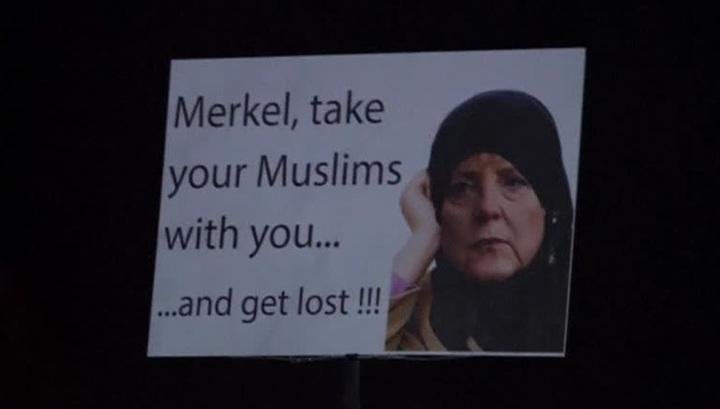 В Лейпциге прошла акция протеста против миграционной политики Меркель