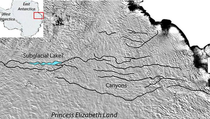 Учёные полагают, что самый большой в мире каньон может скрываться под антарктическими льдами