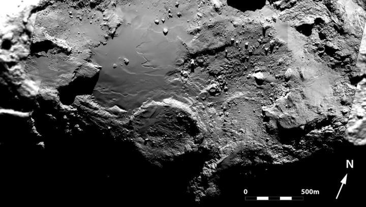 Составное изображение региона Имхотеп, созданное из шести снимков узкоугольной камеры OSIRIS