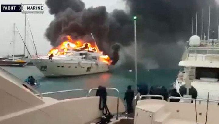 В Турции загорелась яхта российского бизнесмена за 6 миллионов долларов