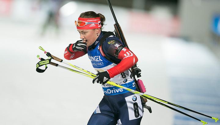 Юрлова-Перхт победила на первом контрольном спринте в Контиолахти