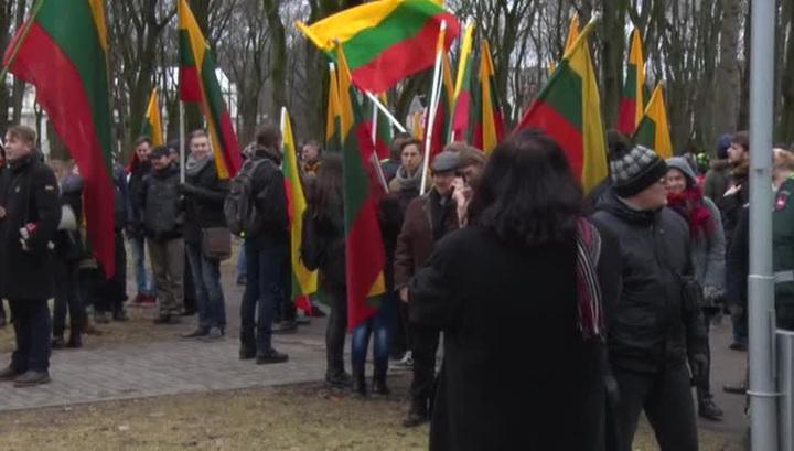 Националисты прошли маршем по литовскому Каунасу