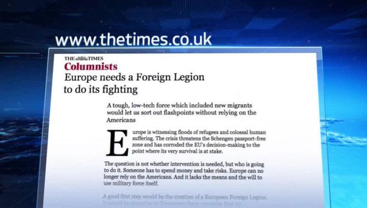Журналист The Times предлагает отправить мигрантов на войну