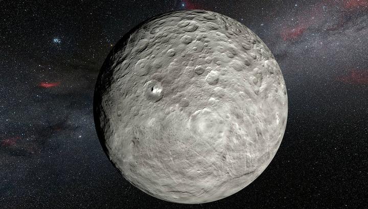 Церера – крупнейший объект в главном поясе астероидов.