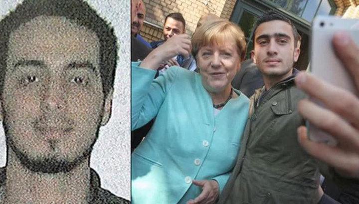 У Ангелы Меркель нашли селфи с предполагаемым террористом-смертником