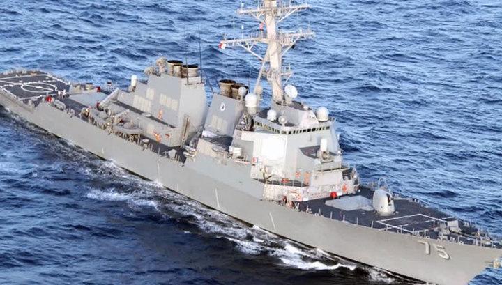 США готовятся к удару по Сирии. Американский эсминец появился рядом с Тартусом