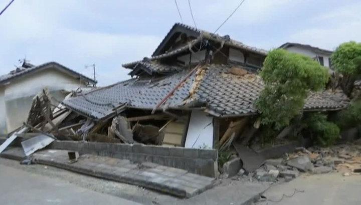 Землетрясение на Кюсю разрушило сотни зданий
