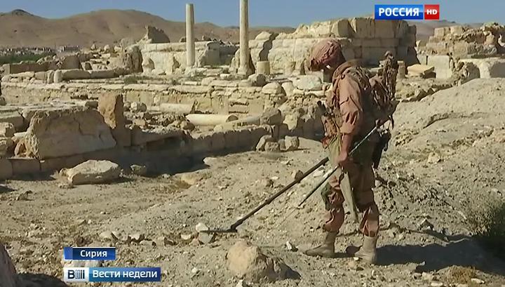 В руинах Пальмиры игиловцы оставили ящики от американских боеприпасов