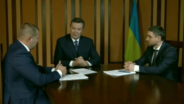 Янукович сделал заявление по видеосвязи для украинского суда