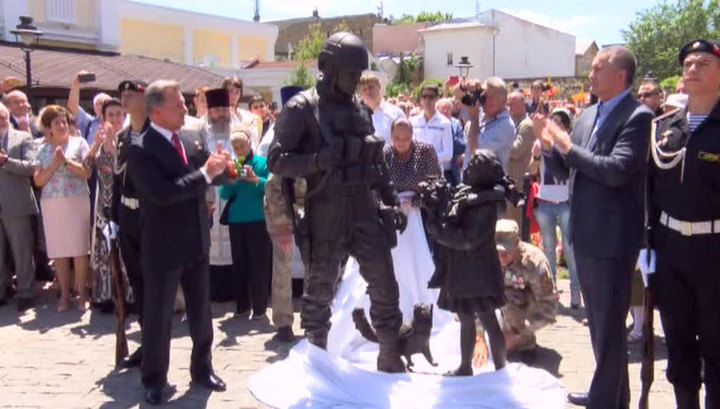 """Памятник """"вежливым людям"""" назвали символом справедливости"""