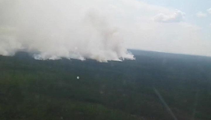 """В природном парке """"Ленские столбы"""" тушат крупный природный пожар"""