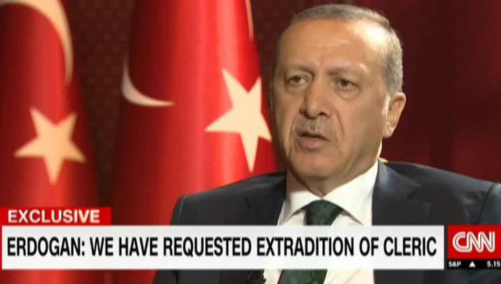Эрдоган в интервью CNN рассказал, как едва не погиб во время переворота