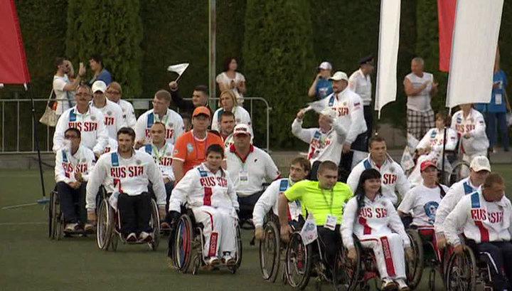 видео выход российские параолимпийцы