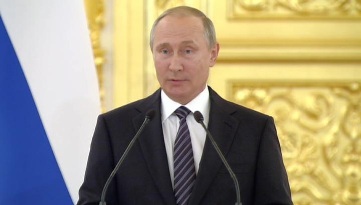 Путин: наша сборная справилась со всеми трудностями