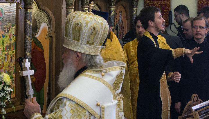 Патриарх Кирилл впервые отслужил литургию с сурдопереводом