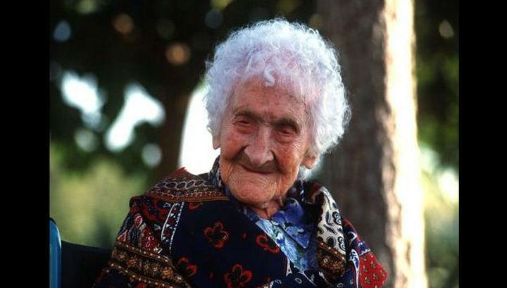 Долгожительница Жанна Кальман, фото 1990-х годов.