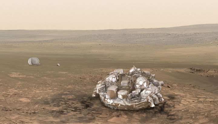 Размещена видео-анимация посадки «Скиапарелли» наМарс
