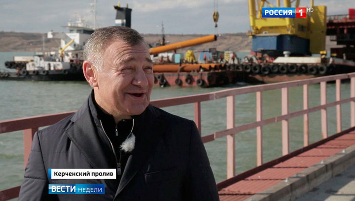 Ротенберг - о строительстве Керченского моста и хоккее с Путиным