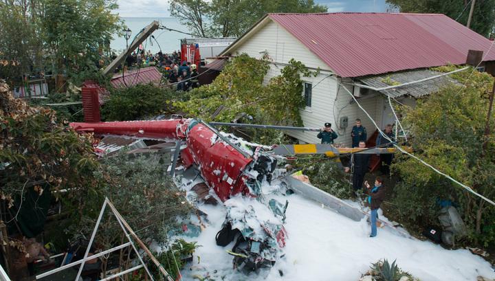 Крушение вертолета в Сочи: пилот мог незаконно перевозить туристов
