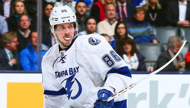 Никита Кучеров признан звездой игрового дня в НХЛ
