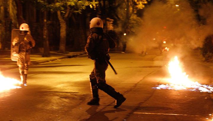 В Афинах 22 человека задержаны в ходе беспорядков