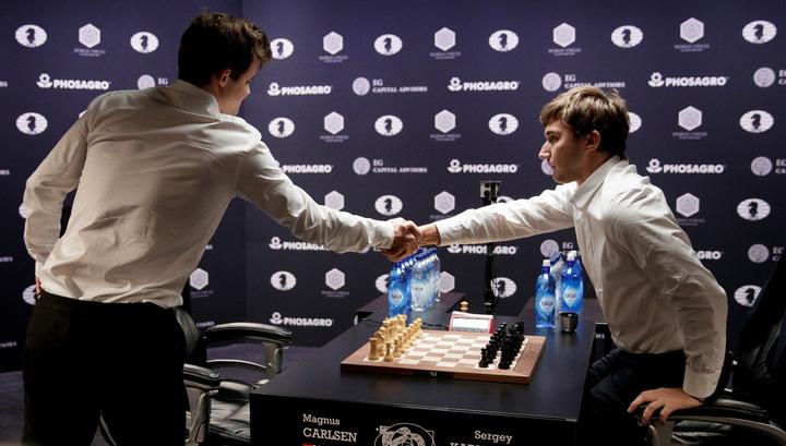 Шахматы. Карлсен обыграл Карякина и подтвердил титул чемпиона мира