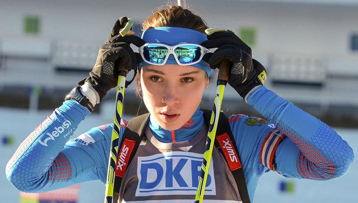 Биатлонистка Кайшева завоевала золото в спринте на этапе Кубка IBU