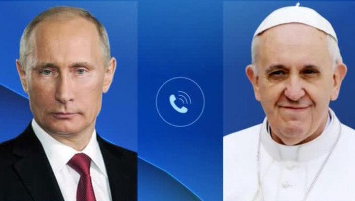 Путин поздравил Папу Франциска и обсудил с ним защиту христиан