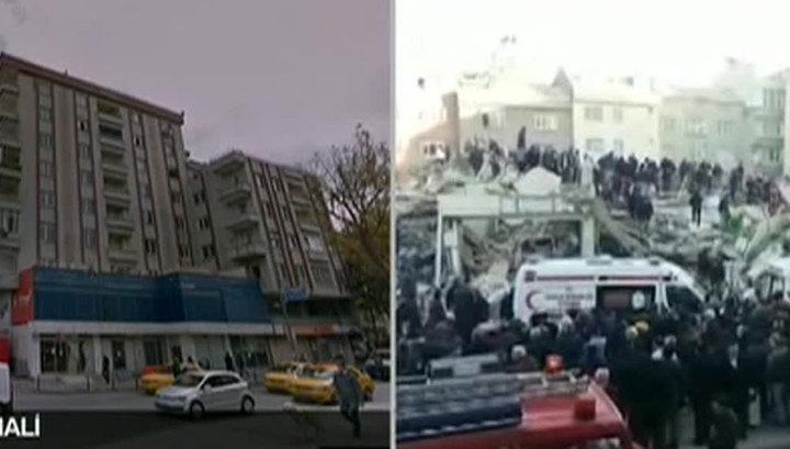 В европейской части Стамбула обрушилась шестиэтажка
