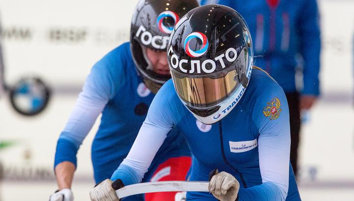 Российский дуэт стал вторым в женском заезде двоек на чемпионате Европы по бобслею