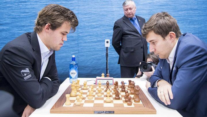 Карякин сыграл вничью с чемпионом мира Карлсеном на турнире в Ставангере