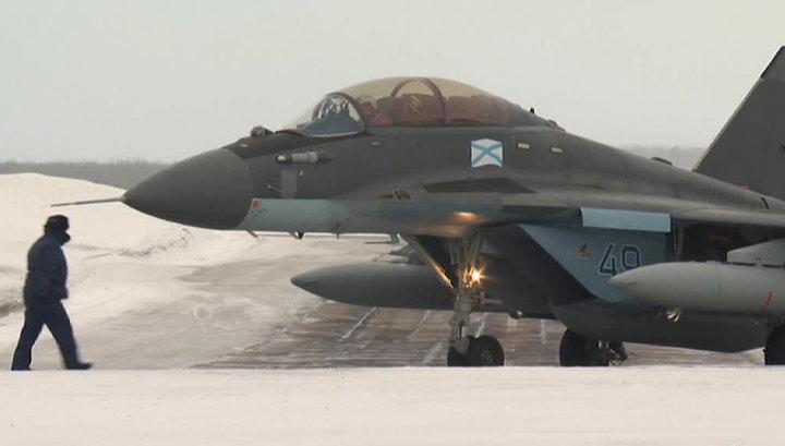 """Авиагруппа """"Адмирала Кузнецова"""" вернулась в Североморск"""